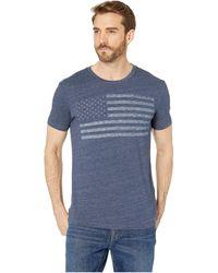 Lucky Brand Short-sleeve Usa Flag T-shirt - Blue