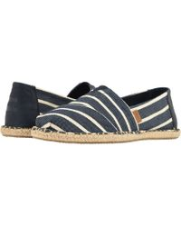 TOMS - Venice Collection Classics (navy Riviera Stripe) Men's Slip On Shoes - Lyst