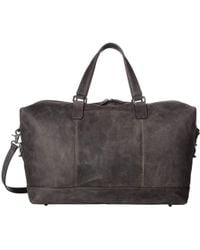 Frye - Oliver Overnight (dark Brown Smooth Pull Up) Bags - Lyst