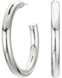 Madewell Chunky Medium Hoop Earrings - Metallic