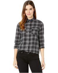 Billabong - Venture Out Woven Top (black/white) Women's Clothing - Lyst