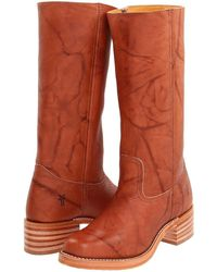 Frye Campus 14l Cowboy Boots - Brown
