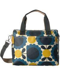 d237a2c9f1 Orla Kiely - Matt Laminated Scallop Flower Spot Zip Messenger (denim) Messenger  Bags -