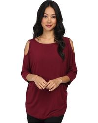 Michael Stars - Lycra Jersey 3/4 Sleeve Cold Shoulder Tunic - Lyst