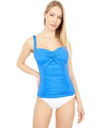 La Blanca Island Goddess Twist Bandeaukini Swimwear - Blue