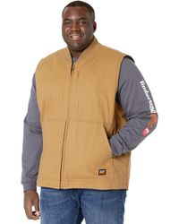 Timberland Extended Gritman Lined Canvas Vest - Brown