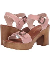 5f75047cbab Matisse - Twiggy Wooden Heeled Sandal (blush) Women s Shoes - Lyst