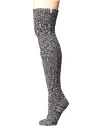 UGG - Cable Knit Socks (charcoal Heather) Women's Knee High Socks Shoes - Lyst