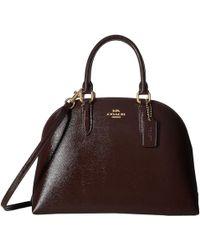COACH - Quinn Satchel In Crossgrain Patent Leather (li/oxblood) Satchel Handbags - Lyst