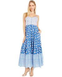 J.Crew Copacabana Dress In Block Print Dress - Blue