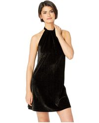 Bishop + Young - Talia Halter Dress (black/gold) Women's Dress - Lyst