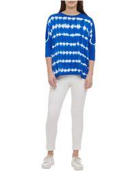 Calvin Klein Tie-dye Dolman Poncho Clothing - Blue