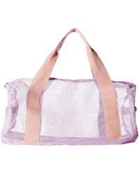 Ban.do Work It Out Mesh Gym Bag (take Care) Duffel Bags - Purple