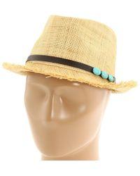 San Diego Hat Company - Rhf6110 (natural) Fedora Hats - Lyst