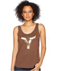 Roper - 1771 Polyester Rayon Tank Top (brown) Women's Sleeveless - Lyst