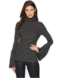 PAIGE - Kenzie Turtleneck (black/white Stripe) Women's Clothing - Lyst