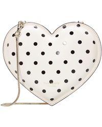 Kate Spade 3-d Cabana Dot Heart Heart Crossbody - Natural
