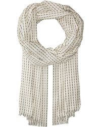 Eileen Fisher - Organic Cotton Dash Stripe Scarf (pebble) Scarves - Lyst