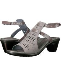 5548f7df9064 Naot - Vogue (linen Leather gold Sheen Leather) Women s Sandals - Lyst