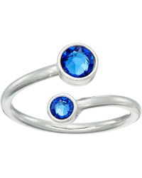 ALEX AND ANI - Birthstone Ring Wrap (sterling Silver/march) Ring - Lyst