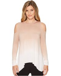 Hard Tail - Wrap Back Cold Shoulder Top (ombre Wash 2) Women's Clothing - Lyst