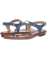23c3744c35f9 MICHAEL Michael Kors - Mk Plate Thong (navy Saffiano 1) Women s Sandals -  Lyst