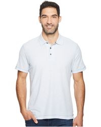 Robert Graham - Messenger Polo (heather Blue) Men's Short Sleeve Pullover - Lyst