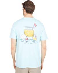 Vineyard Vines Short Sleeve 19th Hole Pocket T-shirt - Blue