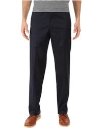 Dockers - Iron Free Khaki D2 Straight Fit Flat Front ( Navy) Men's Casual Pants - Lyst