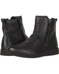 497008ee0fa Ecco - Bella Zip Boot (black Cow Leather) Women s Boots - Lyst