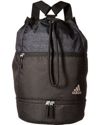 adidas - Squad Bucket Backpack (black black Jersey) Backpack Bags - Lyst 3407692ad9078