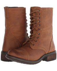 Steve Madden Troopa2.0 Combat Boot Shoes - Brown