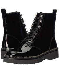 MICHAEL Michael Kors Haskell Patent Leather Combat Boot - Black