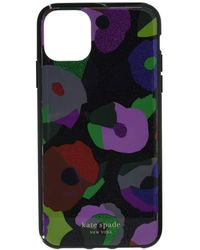 Kate Spade Glitter Floral Collage Phone Case For Iphone 11 Pro Max - Black