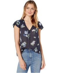 Lucky Brand - Printed Short Sleeve Top - Lyst
