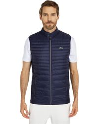Lacoste Padded Golf Vest Clothing - Blue