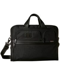Tumi Alpha 3 Compact Large 15-inch Laptop Briefcase - Black