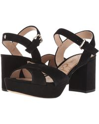 Sam Edelman - Jolene (soft Silver Distressed Metallic Leather) Women's Shoes - Lyst
