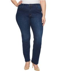NYDJ - Plus Size Marilyn Straight Jeans In Cooper (cooper) Women's Jeans - Lyst