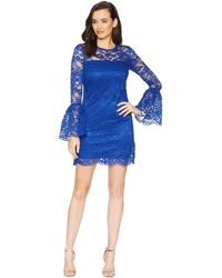 Laundry by Shelli Segal - Lace Dress With Bell Sleeves (cobalt) Women's Dress - Lyst