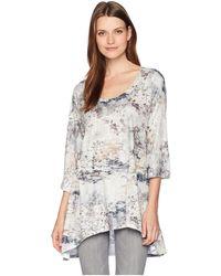 Nally & Millie - Grey Abstract Print Tunic (multi) Women's Blouse - Lyst