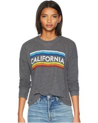 The Original Retro Brand - California Super Soft Haaci Pullover (black Haaci) Women's Clothing - Lyst
