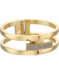 Vince Camuto - Link Bracelet With Pave Foldover Clasp (gold) Bracelet - Lyst