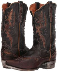 Dan Post - Kellen (chocolate Leather) Cowboy Boots - Lyst