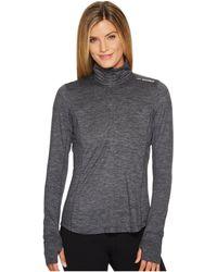 Brooks - Dash 1/2 Zip (heather Asphalt) Women's Long Sleeve Pullover - Lyst