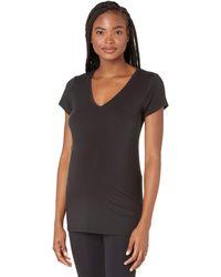 Ingrid & Isabel Maternity Basic Short Sleeve V-neck - Black