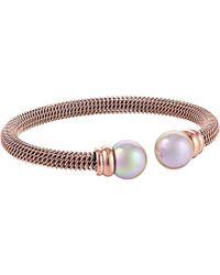 Majorica - Steel Bangle Bracelet - Lyst