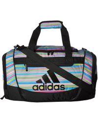adidas - Defender Iii Small Duffel (black/onix Jersey/clear Mint Green) Duffel Bags - Lyst