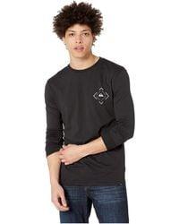 2a3201c9c8 Quiksilver - Square Sweller Long Sleeve Tee (black) Men s T Shirt - Lyst