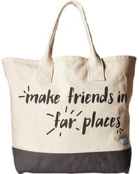 TOMS - Printed Canvas Tote - Lyst